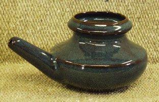 Ceramic Neti Pot - Sapphire Black
