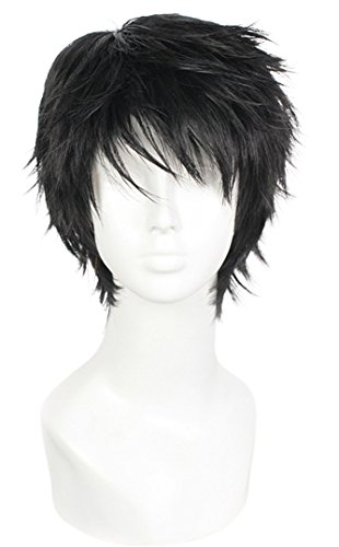 - Nuoqi Mens Short Hair New Vogue Sexy Black Fashion Cosplay Wig WA02