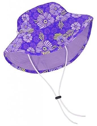 Tuga Girls Bucket Hat (UPF 50+), Plum, Medium