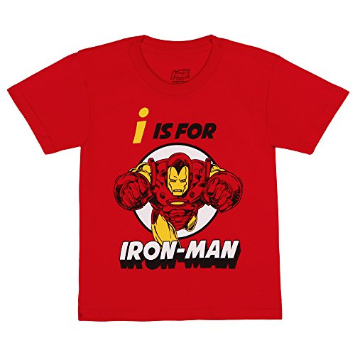 Youth T-shirt Stone (Marvel I is for Iron Man Youth T-Shirt - Red (5/6))