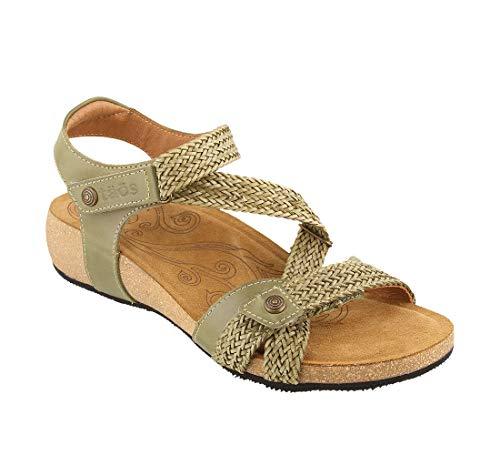 Taos Footwear Women's Trulie Herb Green Sandal 9 M US