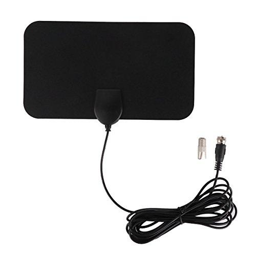 (50 Miles Range Indoor Digital HDTV Antenna Amplifier Radius TV Surf Signal Receiver Mini DVB-T/T2 Aerial UHF VHF Cable)