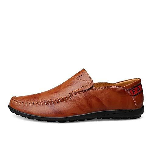 De Muestra Cordones Como 36 Con Zapatos Cuero Rojo Tamaño Ue Se Ocio Fuweiencore Forro Para Mocasines Conducción Sin Hombres Zapatillas Cómodas Marrón color cRqU8I4vBU