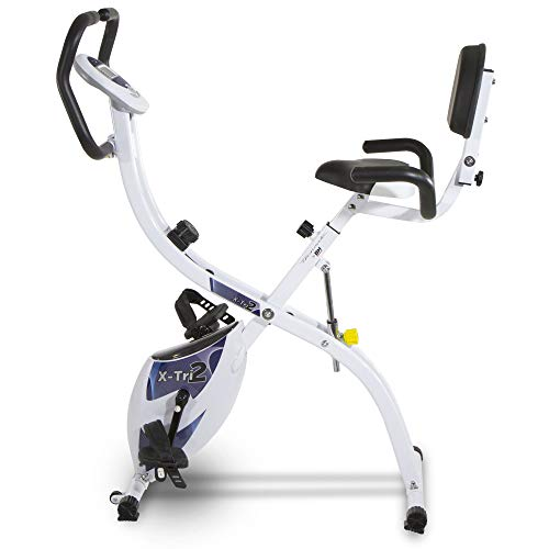 🥇 Tecnovita – Bicicleta estática X-Tri 2 YF910 – Bicicleta Plegable con 3 Posiciones