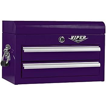Viper Tool Storage V218MCPU 18 Inch 2 Drawer 18G Steel Mini Storage Chest W