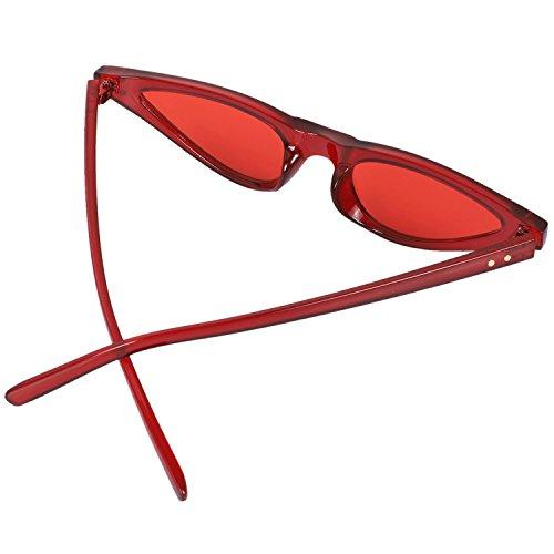 de Leopardo Ojo mujer UV400 de Triangulo Gafas pequenos Gafas de de sol sol Anteojos Elegantes gato TOOGOO Gafas rojo Mujer Cateye PH4wTxHq