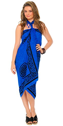 Costumes At Party City (1 World Sarongs Womens Celtic Cover-Up Sarong Celtic Cross 2 in Royal Blue)
