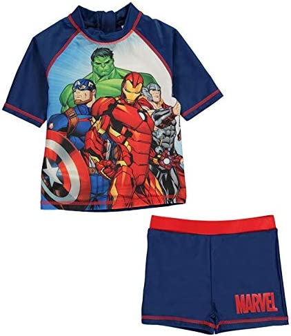 Character Marvel Avengers Swimsuit Set 2 Pieces Tshirt and Shorts Boy (7-8 Years)