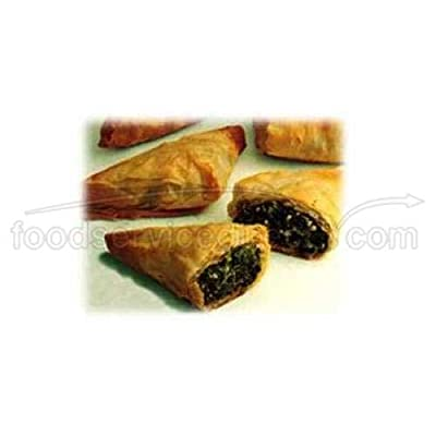 Athens Foods Spinach and Cheese Fillo Triangle Spanakopita - Appetizer, 12 Ounce -- 12 per case.