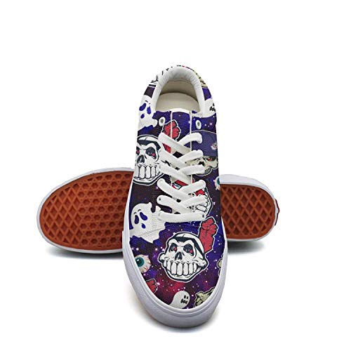Migny Hills Womens Low Top Shoes Cleveland Indians_Skull Baseball Art Fashion Sneakers