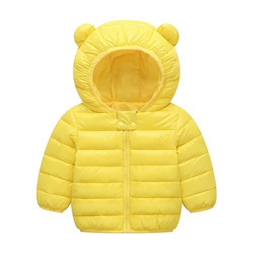 Hooded Puffer Jacket Girls (BSC007 Baby Boys Girls Winter Coats Hoods Light Puffer Down Jacket Outwear Yellow)
