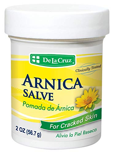De La Cruz Arnica Salve for Cracked Skin / No Preservatives, Colors or Fragrances / Allergy Tested / Made in USA 2 OZ.