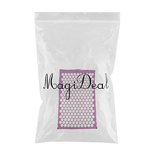 MagiDeal Acupressure Mat Neck Body Muscle Stress Meditation Yoga Massager Mat - Purple by Unknown (Image #2)