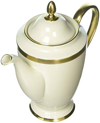Lenox Lowell Gold Banded Ivory China Coffeepot ()
