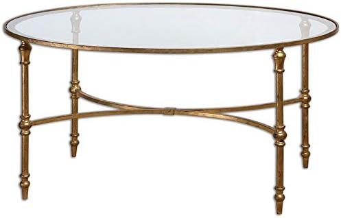 Uttermost Vitya Glass Oval Coffee Table