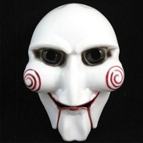 Canghai Novelty Halloween Cosplay Saw Plastic Masks Jigsaw Puppet Mask Masquerade Costume Prop