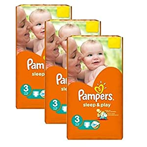 Couches Pampers - Taille 3 sleep & play - 246 couches bébé 11