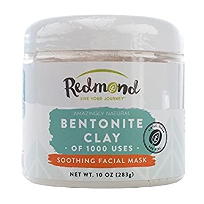 Redmond Clay - Bentonite Clay of 1000 Uses, Soothing Facial Mask, 10 Ounce