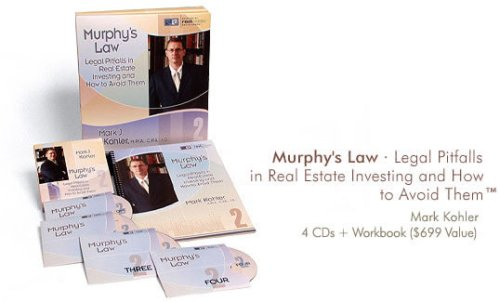 Murphy's Law - Legal Pitfalls in Real Estate Investing and How to Avoid Them (R2E2 (Residential Real Estate Encyclopedia), Volume (Agreement To Sell Real Estate)