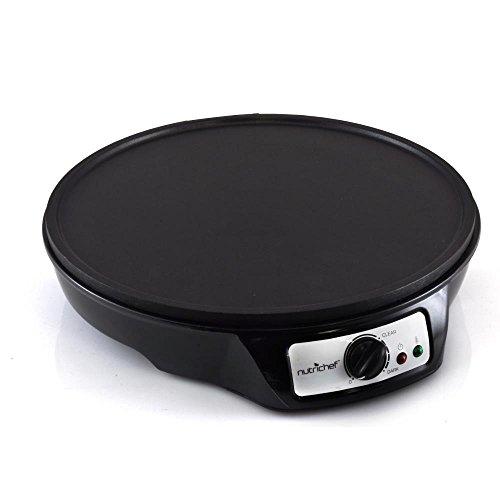 Electric Pancake Griddle ~ Nutrichef crepe maker pancake electric griddle