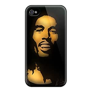 Premium [BBkgn3392HfmEM]bob Marley Case For Iphone 4/4s- Eco-friendly Packaging
