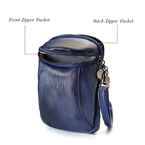 Casual Vintage Bucket Ladies Bag Women Phone Girls Pu Women Blue Little Leather Joseko Crossbody For Round Travel Pqv55z