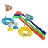 PIXNOR Sport Toy Set Children Kids Plastic Golf Set Golfer Toy Colorful