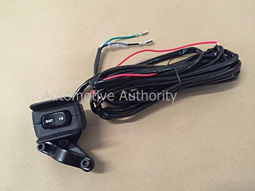 12V Winch Rocker Thumb Switch w/Mounting cket - Handle Bar Control on
