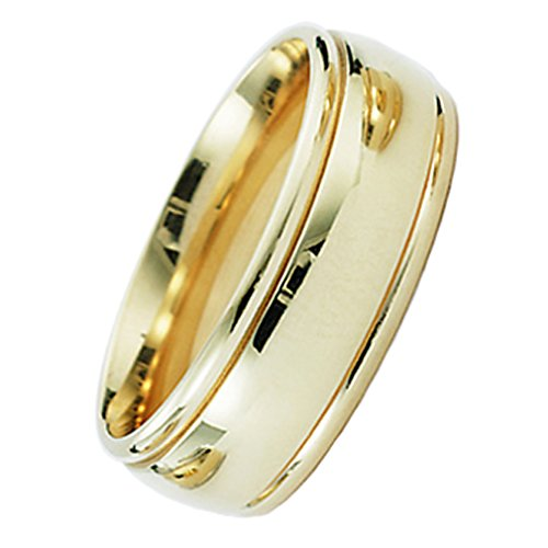 7 Millimeters 10 Karat Gold Wedding Ring on Sale with Comfort Fit and Luxury Polished