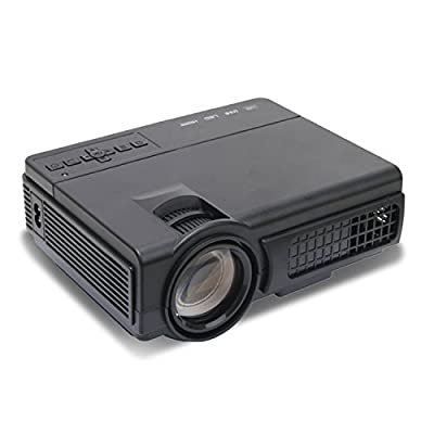 Supemale Video Projector,2000 Lumens,Support 1080P,20000 Hours Life Time Home Cinema Theater Multimedia Projector Support HD PC USB HDMI AV VGAHDMI AV VGA