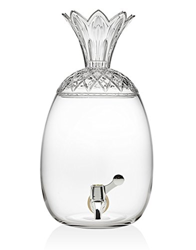 Godinger Glass Pineapple Large Drink Beverage Dispenser with Easy Push Spigot (1 Gallon)-Perfect Holiday Gift!