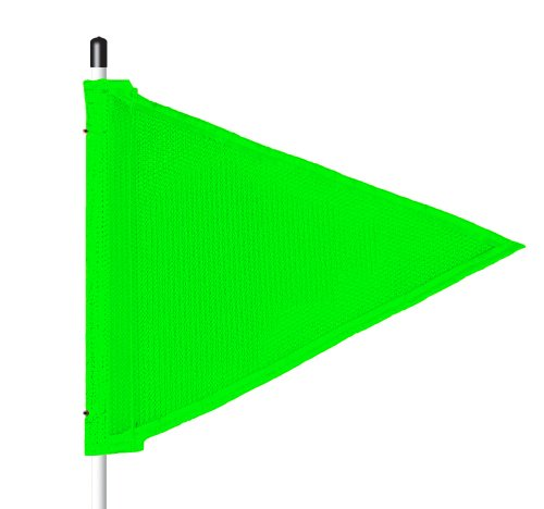 (Flagstaff FS6 Triangular Safety Flag, Threaded Hex Base, 12