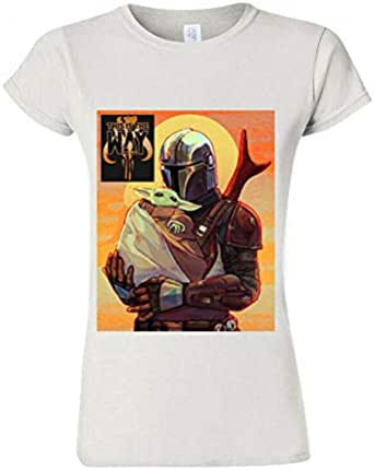 Baby Yoda camiseta de arte, mandalorian camiseta de Star Wars ...