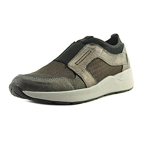 Easy Spirit Women's Ilex Sneaker,Dark Brown Multi Suede,US 8.5 M