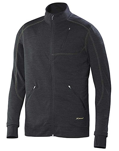 Merino Wool Jacket - Terramar Men's Thermawool Merino Wool Full Zip Jacket, Smoke Heather, Large (42