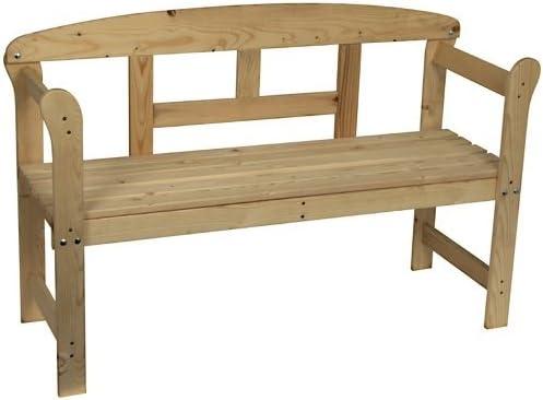 Spetebo - Banco de madera para jardín: Amazon.es: Jardín