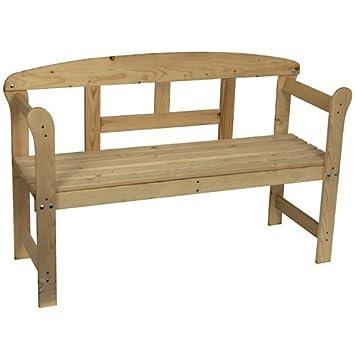 Panchina In Legno Da Giardino.Panchina Da Giardino In Legno Amazon It Giardino E Giardinaggio