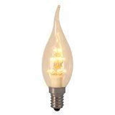Punta de llama Led bombilla 0,9 W 2100 K, luz blanca cálida 70