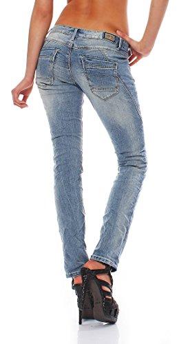 M.O.D - Damen Jeans Stretchjeans REA cheval blue