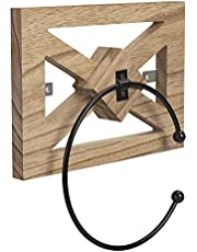 Towel Rings, Wall Mounted Farmhouse Hand Towel Rings, The Combination of Tonglin and Black Iron Rings, highlighting The Charm of The Country