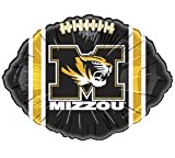 6 NCAA Official Missouri Tigers 18'' Football Shape Foil Balloons Great For Parties And Team Support