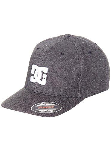 DC Black Star Tx Curved Peak Flexfit Cap (L/XL, Black)