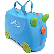 Trunki The Original Ride-On Terrance Suitcase, Blue by Trunki