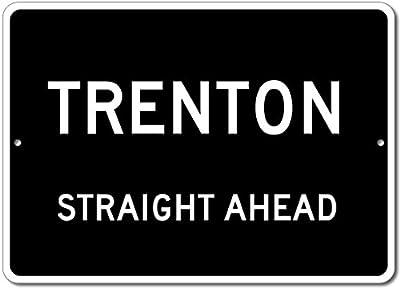 Custom Aluminum Sign - TRENTON, KENTUCKY US City Straight Ahead Sign