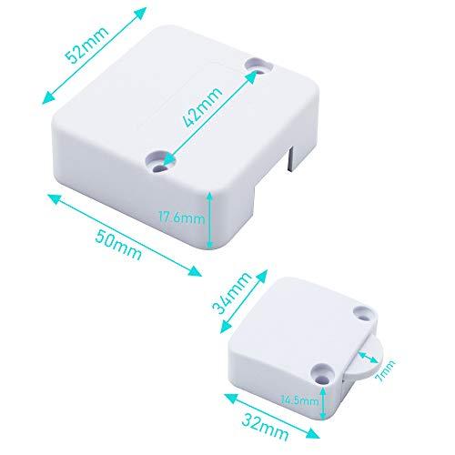 BlueXP 2 Piezas La luz del Interruptor de la Puerta del Gabinete del Interruptor de la Puerta se Apaga Cuando la Puerta Est/á Cerrada el Interruptor Presiona el Interruptor de Arranque Negro
