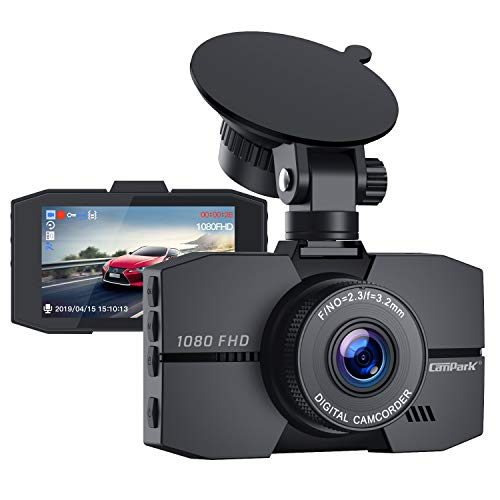 Campark Dash Cam 1080P Full HD Dash Camera for Cars 3″ IPS Screen DVR Dashboard Driving Recorder with 170° Wide Angle Night Vision Loop Recording G-Sensor and Parking Monitor