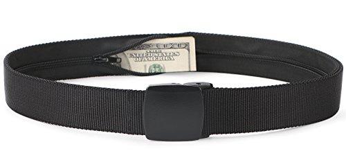 - SUOSDEY Travel Money Belt, Nylon Hidden Money Pocket Belt Non Metal Buckle