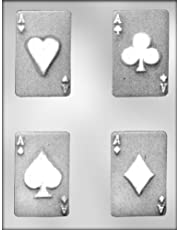 CK Products 3-1/2-Inch Ace Cards Chocolate Mold