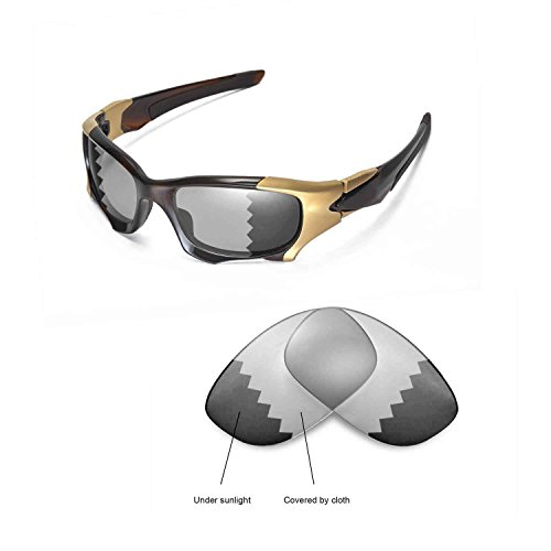 Walleva Replacement Lenses Oakley PIT BOSS II Sunglasses - Multiple options available (Transition/photochromic - - Pit Ii Boss