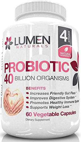 Probiotic 40 Billion for Women – Powerful Probiotics to Boost Gut Health, Immune System & Weight Management – Guaranteed Shelf-Life Potency with Lactobacillus Acidophilus – 60 Count Review